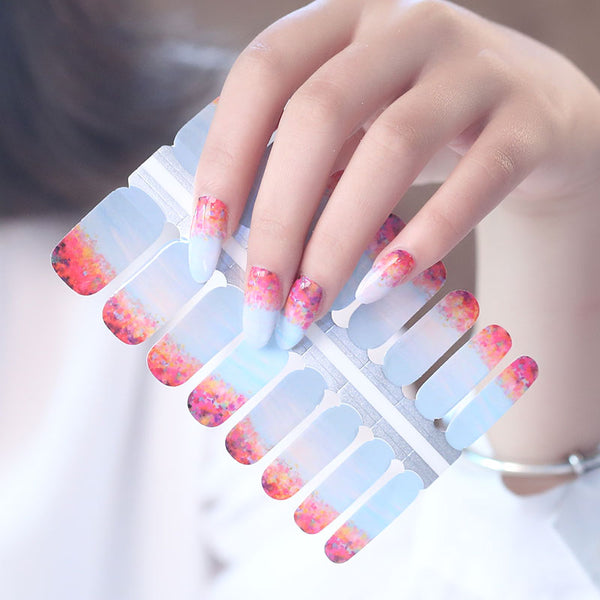 Waterlily Sunset Nail Wrap