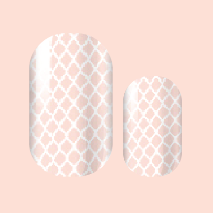 Wistful White Fishnet Nail Wraps