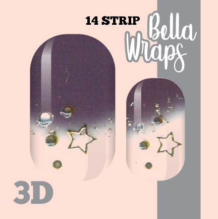 Stars and the Moon Nail Wraps