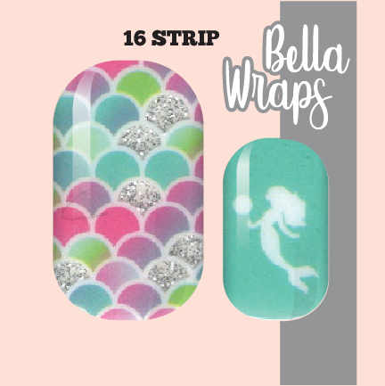 Mermaid 4 Life Nail Wraps
