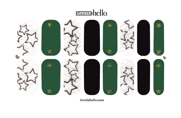 Emerald Star Glam Nail Wraps
