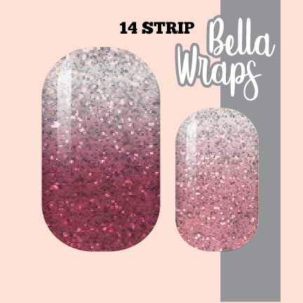 Berry Ombre Glam Nail Wraps