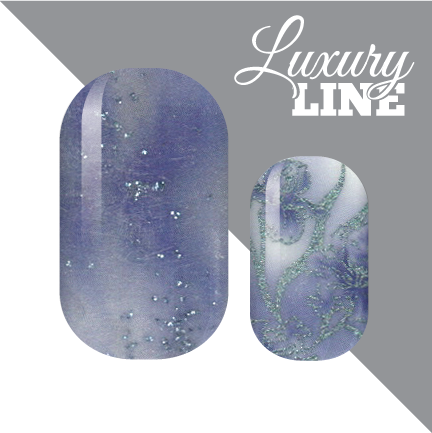 Soft Blue Floral Luxury Nail Wraps