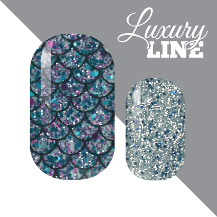Glistening Mermaid Luxury Nail Wraps