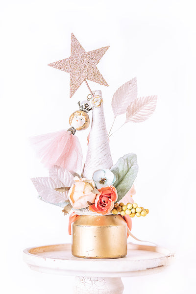 Pastel pink and gold party hat