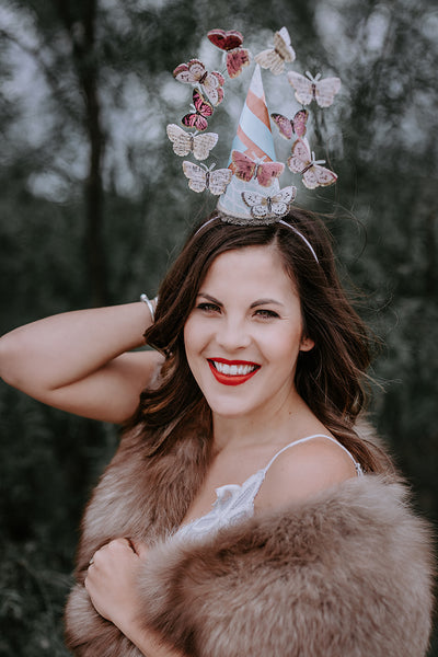 Adult Butterfly Fascinator Hat