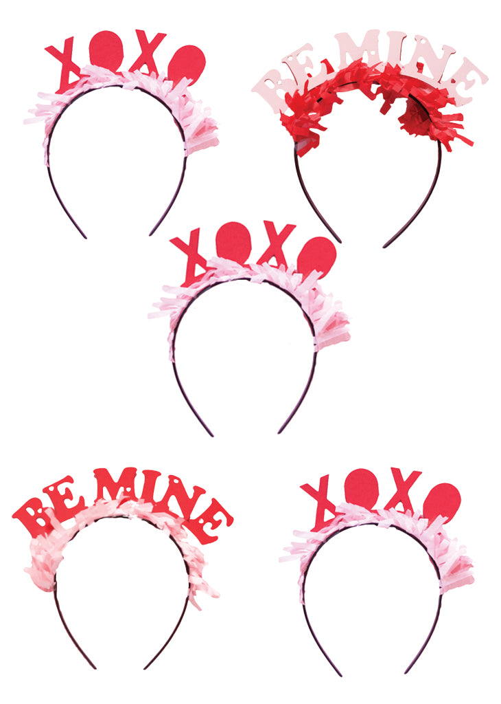 Party Up Top Headbands, Valentines Pack