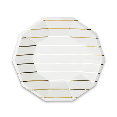 Frenchie Striped Large Plates, Blush