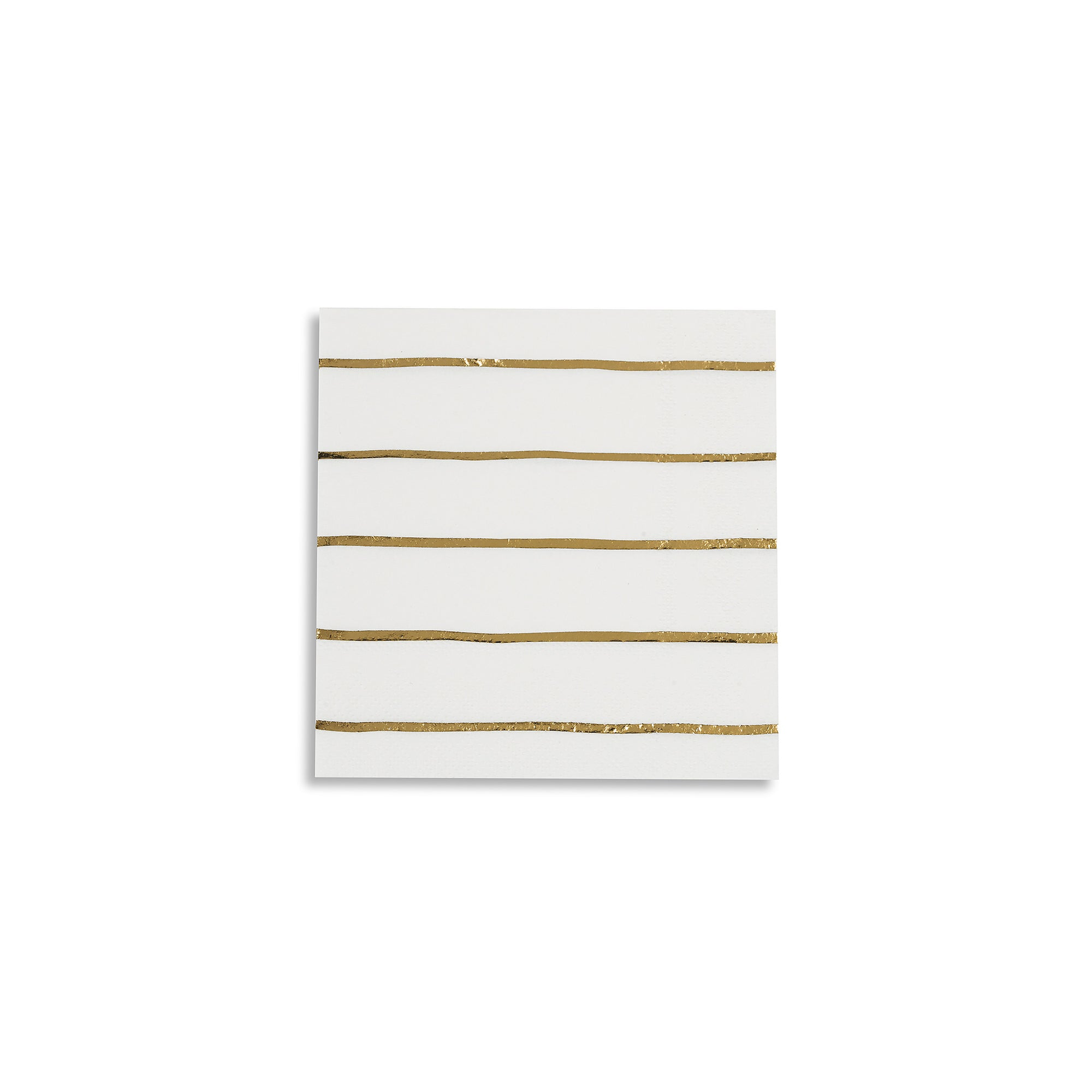 Frenchie Striped Petite Napkins, Gold Metallic