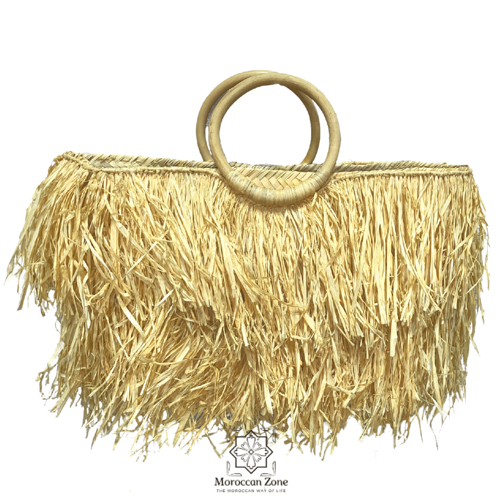 Straw handbag rafia handmade bag