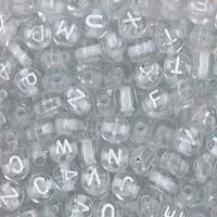 Small Alphabet Beads - Crystal