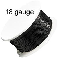 Artistic Wire - 18 Gauge - Black  (10 yard - 9 m reel)
