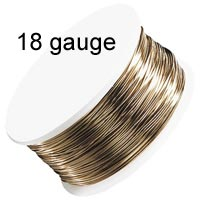 Artistic Wire - 18 Gauge - Non-Tarnish Brass (Gold) (10 yard - 9 m reel)