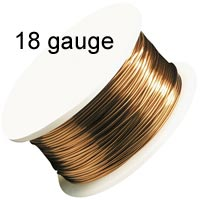 Artistic Wire - 18 Gauge - Natural (Copper) (10 yard - 9 m reel)