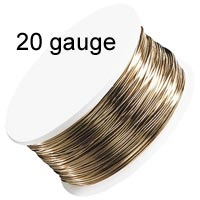 Artistic Wire - 20 Gauge - Non-Tarnish Brass (Gold)  (15 yard - 13.5 m reel)