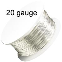 Artistic Wire - 20 Gauge - Non-Tarnish Silver (25 feet - 7.5 m reel)