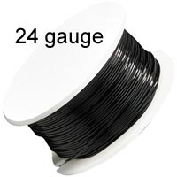 Artistic Wire - 24 Gauge - Black  (20 yard - 18 m reel)
