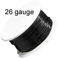 Artistic Wire - 26 Gauge - Black  (30 yard - 27 m reel)