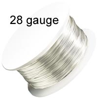 Artistic Wire - 28 Gauge - Non-Tarnish Silver (40 yard - 36 m reel)