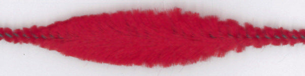 Chenille Bump (15 mm x 4 Bumps) - 30 mm long - Red (each)