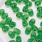 Czech 2-hole Super Duo Beads - Chrysolite - 10 grammes