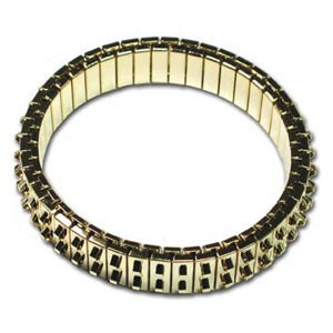 Bracelet Forms (for Beading) - Cha-Cha Bracelet - approx. 47 mm ID & 55 mm OD - Two Row of Loops - G