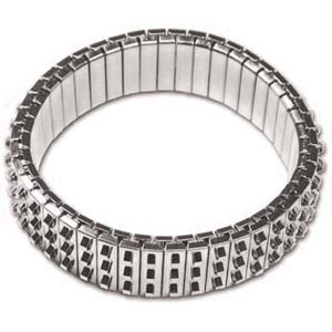 Bracelet Forms (for Beading) - Cha-Cha Bracelet - approx. 47 mm ID & 55 mm OD - Three Row of Loops -