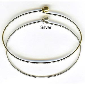 Bracelet Forms (for Beading) - Bracelet Wire with Removal Ball - approx 65 mm wide x 55 mm high - Si
