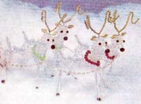 Beaded Christmas Collection - 7700C - 4 Reindeer
