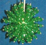 Beaded Ornaments / Tree Decorations - LARGE Crystal Satellite Ball - GreenGold