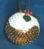 Beaded Ornaments / Tree Decorations - Sequin Christmas Pudding