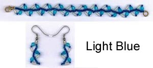 Vine Bracelet and Earring Kit - Light Blue