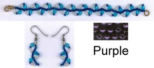 Vine Bracelet and Earring Kit - Purple