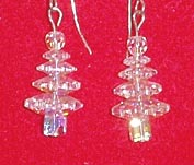 Swarovski Christmas Tree Earrings (Crystal AB - Sterling Silver)