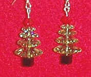 Swarovski Christmas Tree Earrings (Peridot - Sterling Silver)
