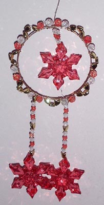 Christmas Hanger in Gold and Red