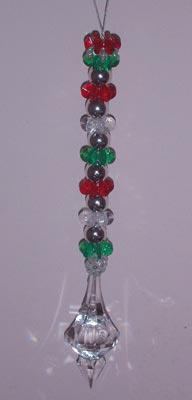 Icicle Hanger in Red, Green and Silver