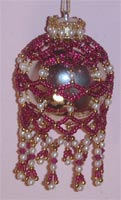 """Hannah"" Beaded Chandelier-style Ornament"