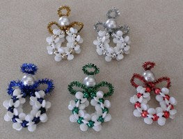 Starflake Pony Bead Angel (makes 5 - 1 each of 5 colours)