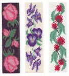 Bookmark Kit - makes 1 bookmark (3-Gum Flowers RHS pattern of illustration - pattern includes all 3