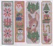 Bookmark Kit - makes all 4 Christmas bookmarks (pattern includes all 4 designs).