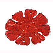 8-petal Flower Link-Pendant - Transparent Red