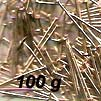 Straight Pin - Lills Pin - 16 mm - Gold coloured - 100 g pack (approx 2400 pins)
