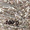 Straight Pin - Lills Pin - 16 mm - Silver coloured - 100 g pack (approx 2400 pins)