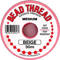 Beading Thread - Beige (Cream) - Medium (30 m spool)