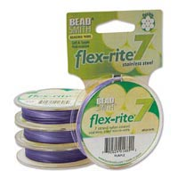 "Flexrite - 7-strand Purple (coated Stainless Steel wire) - 0.014"" - 0.35 mm - 9.2 m reel"