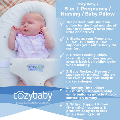 5-in-1 Pregnancy, Breast Feeding & Baby Pillow