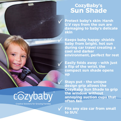CozyBaby's 2-Pack Sun Shade for Baby Car Travel