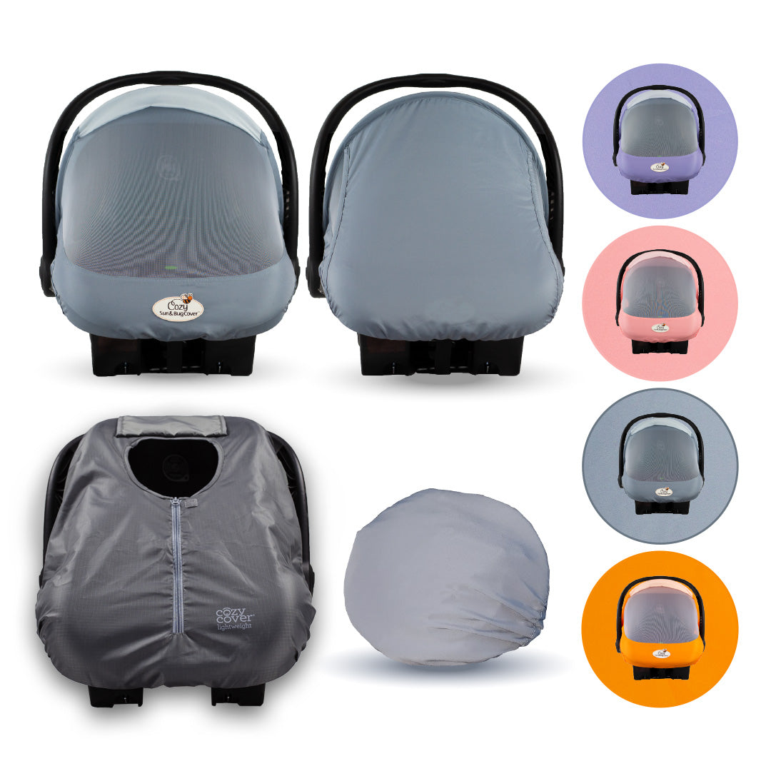 Cozy Baby's COMBO PACK – a Sun & Bug Cover PLUS a Lightweight Summer Cozy Cover