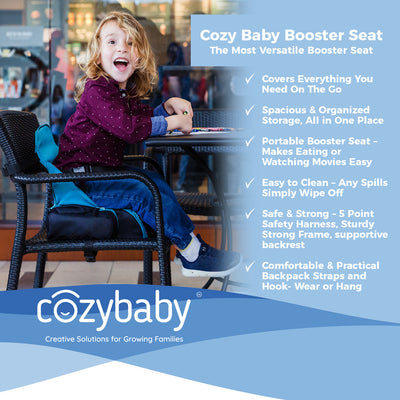 3 in 1 - Cozy Travel Booster Seat / Backpack / Diaper Bag for Your Toddler/Baby